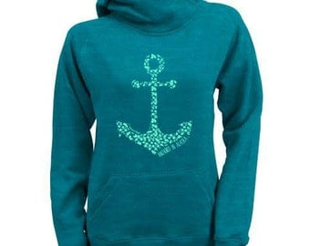 Anchored in Alaska 3 button hoodie