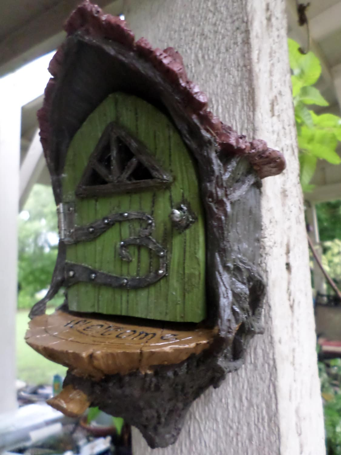 Enchanted fairy door fairy tree door miniature gardening fairy for Outdoor fairy door