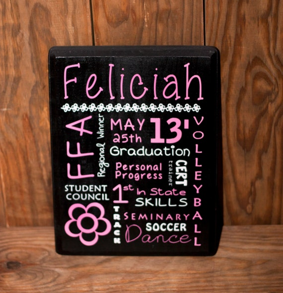 Items similar to Personalized Graduation Gift - Wood Sign ...
