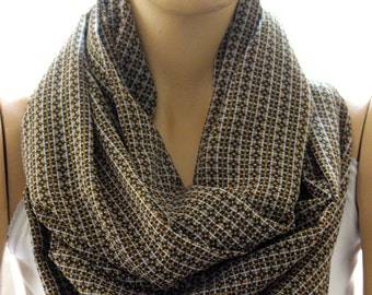 Silk chiffon infinity scarf. Loop scarf. Circle scarf  Gift Circle scarf. Women Scarf. Gift idea, accessories, women accessories, silk scarf