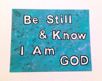 Bible Quote Canvas - Psalm 46:10