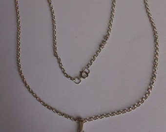 Vintage Scottish amethyst thistle sterling silver pendant and chain