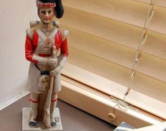 Scots Guard Figurine home decor army bric a brac vintage regency military display item kilt figurines