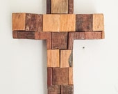 Rustic Cross: Beautiful Rustic Cross created from the Scraps of the shop floor, and put together very nicely.
