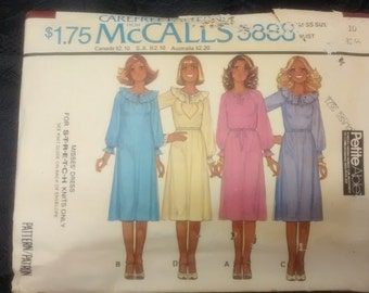 McCalls 1970's vintage dress pattern size 10
