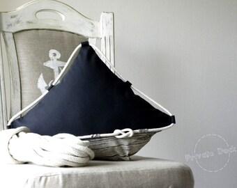 Nautical Pillow Yacht Nautical Art Modern Classic Design. Maritime nautical beach home decor. Luxury Fine fabrics. Unique gift for sailor!