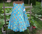 Size M/L Batik full length, full twirl festival skirt