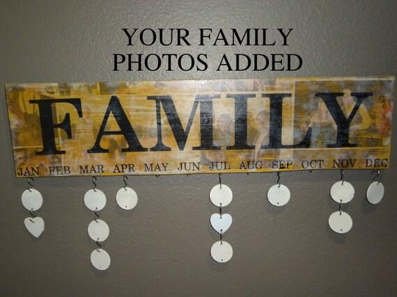 Family Celebration Board Celebration Photo Boards