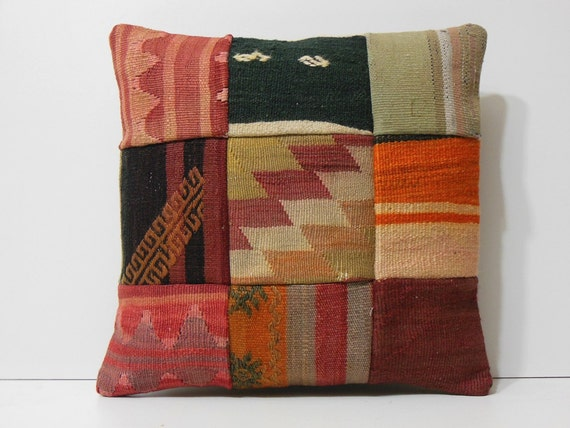 Decorative Western Throw Pillows : decorative kilim pillow 18x18 western throw pillow colorful