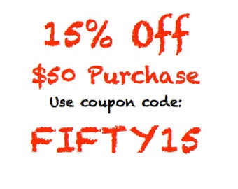 Coupon 15% Off 50.00 Purchase