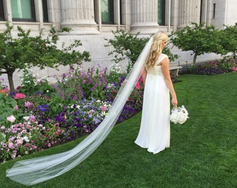 Cathedral length (9ft) Single Layer Veil
