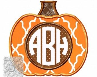 Monogram Pumpkin Applique Design Buy2 Get1