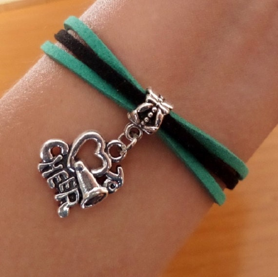 Cheer Charm Bracelets: Love To Cheer Bracelet Megaphone Charm Antique By SummerWishes
