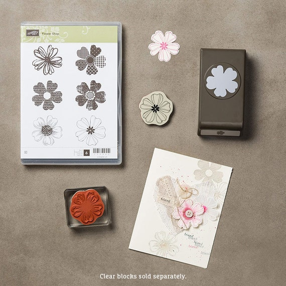 Stampin Up Flower Shop Cling mount bundle