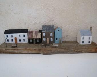 Driftwood Scandinavian Miniature Houses Northsea Denmark Town