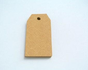Quatrefoil Kraft Blank Gift Tags