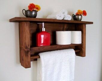 Bathroom Towel Rack Towel Bar Towel Hook Towel Holder Bathroom Shelf Rustic Modern