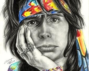 Steven Tyler - Signed Print