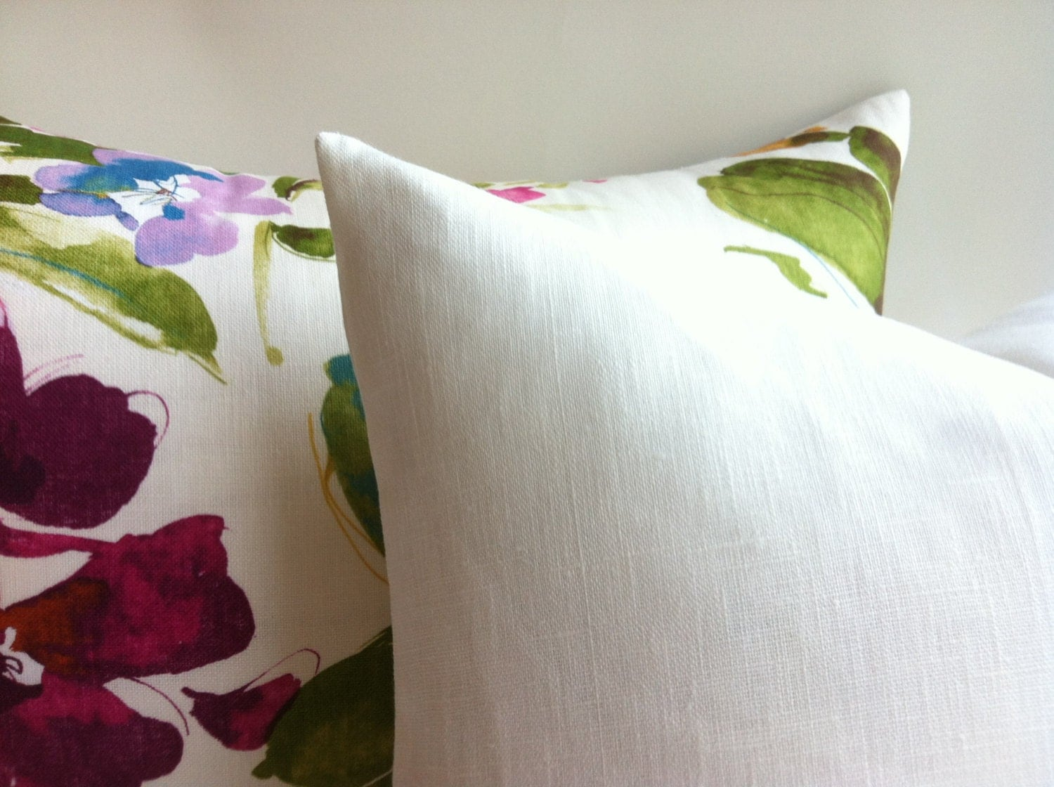 Pure White Linen Pillow Cover Linen throw Cover white zippered