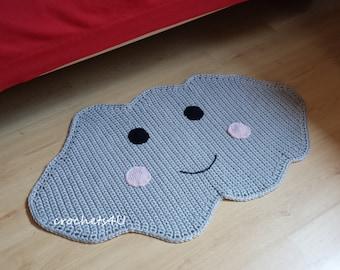 crochet pattern cloud carpet, cloud rug, crochet carpet, crochet rug, cloud rug, carpet rug, nursery, decoration