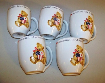 Retroneu Land That I Love Set Of Five Coffee Mugs