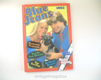 Blue Jeans 1983 Annual, vintage 1980s book for teenage girls