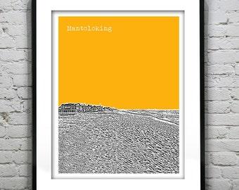 Mantoloking Skyline Poster Art Print New Jersey NJ Version 1