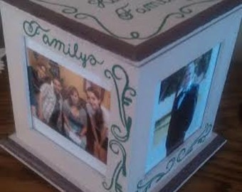 Hand Painted Picture Frame Box