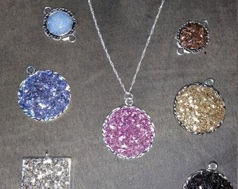 Bling Druzy Pendant necklace