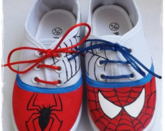 Spiderman Shoes,Spiderman, Spiderman shoes, Sneakers, slippers, shoes pesonalized.