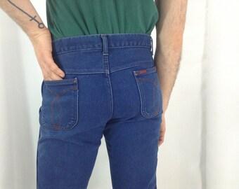 "Dark Blue Vintage Denim Jeans ""Long Haul"" - 36 x 32"