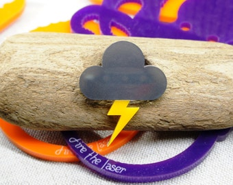 Storm Cloud Brooch Weather Symbol