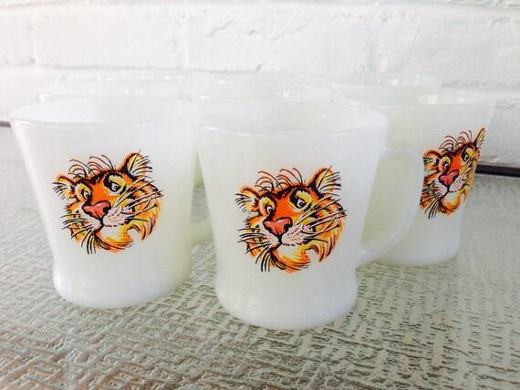 Fire King ESSO Tiger Coffee mugs