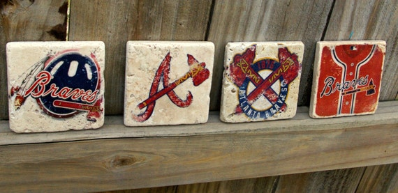Atlanta Braves Drink Coasters/ Man Cave/ By