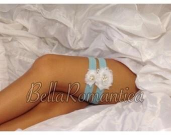 Something Blue #003 - Wedding Garter - Something Blue - Bridal Garter