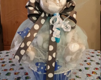 Baby wash cloth lollipop bouquet