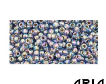 Light SAPPHIRE RAINBOW GOLD Lined (997): 11/o Toho Japanese Seed Beads (10 grams)