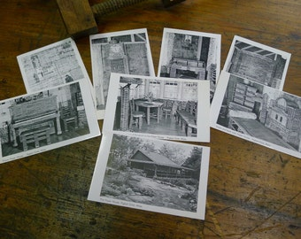 Postcards of The Paper House, Pigeon Cove, MA (set of 8)