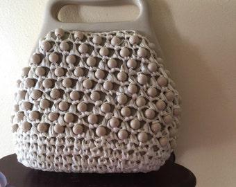 60s beaded handbag , mod purse , space age , twiggy purse , small