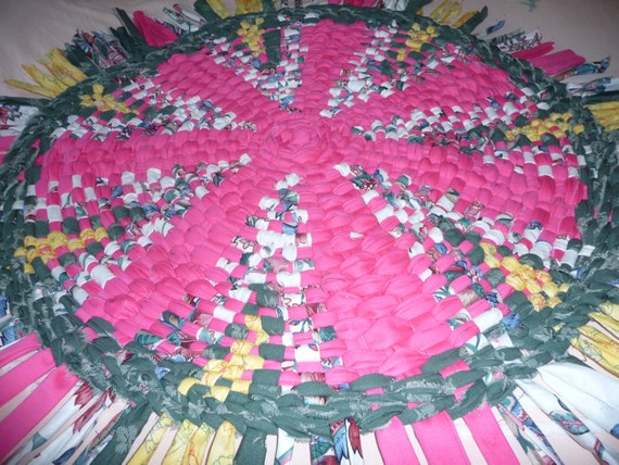 Rag Rug Woven 36 Round Wagon Wheel Ready To By Generationsrugs