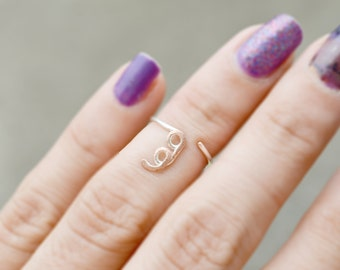Semicolon Ring Strength Ring Silver Midi Knuckle Ring Jewelry Project Semicolon