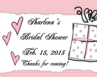 20 Pink Bridal Shower Favor Tags