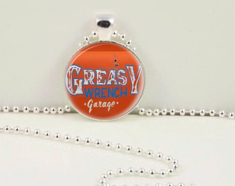 Greasy Wrench Pendant or Keychain