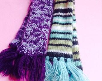 Knit Doll Scarf, fashion doll apparel, Blythe / Barbie / My Scene / Bratz / Monster High, doll accessories, Greece