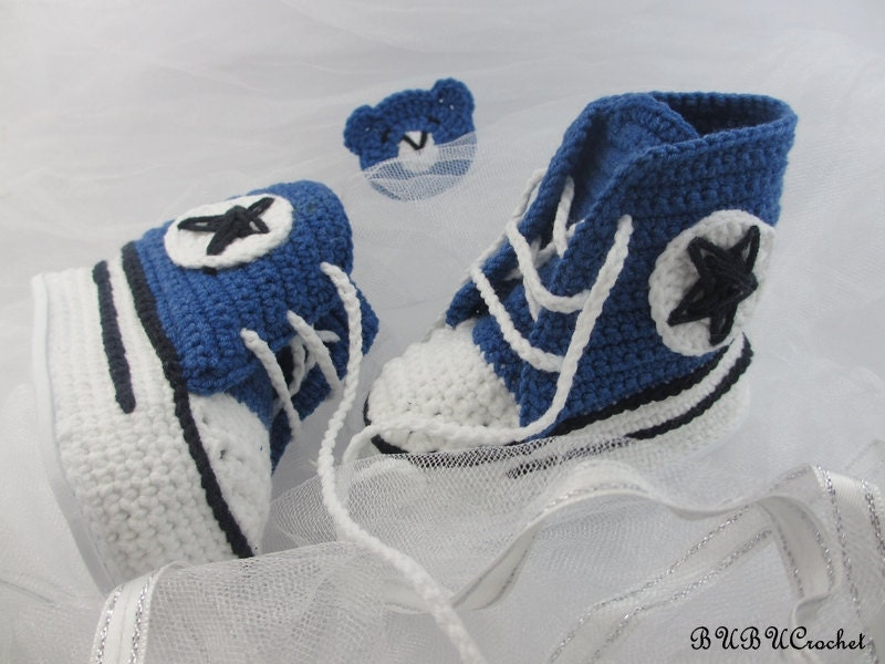 Sneakers Baby Converse Crochet Crochet Baby Shoes by ...