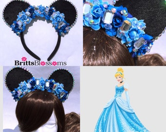 Cinderella Mouse Ears, Disney Princess, Minnie Mouse Ears, Disneyland, Disney World