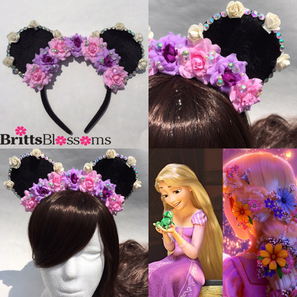 rapunzel mouse ears tangled minnie mouse ears disneyland. Black Bedroom Furniture Sets. Home Design Ideas