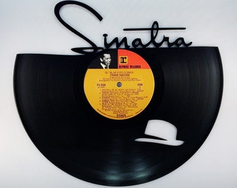 Recycled Vinyl Record FRANK SINATRA Wall Art
