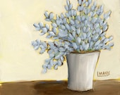 Lavender #6 - Fine Art PRINT - cottage chic, acrylic painting by Lana Manis