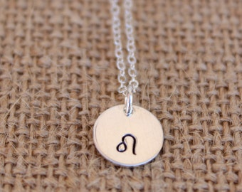 Leo Sterling Silver Zodiac Necklace,  Leo Zodiac Necklace, Leo Necklace, Zodiac Necklace, Zodiac Sign Necklace, Minimalist Necklace